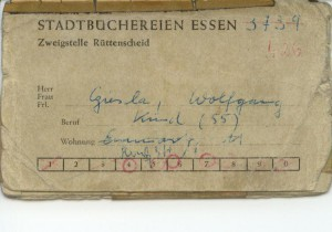 006 Benutzerausweis Stadtbücherei Essen
