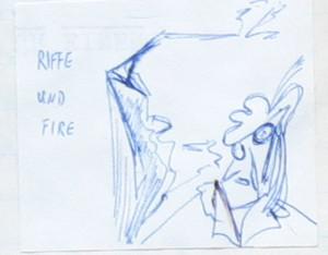Notizbuch 35, Seite 23: Riffe und Fire