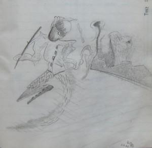 Notizbuch 35, Seite 31: Tanz des Dichters (um die Gunst seiner Muse) - 03.09.1982