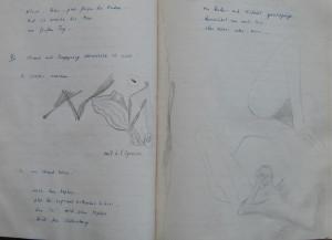 Notizbuch 35, Seiten 46/47: Neuer Bleistift (14.09.1982)