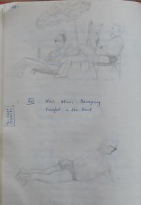 Notizbuch 35, Seite 52: nach etwas Bewegung Rückfall in den Stand