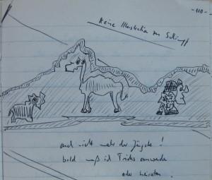 Notizbuch 32, Seite 110: Keine Illustration zu Schimpf