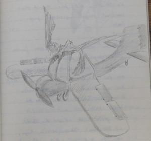 Notizbuch 33, Seite 121: Flugzeug