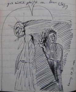 Notizbuch 32, Seite 123: Brief aus Bamberg (Ende)
