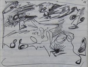 Notizbuch 30, Seite 48 (Detail: In einer Zeitfüllung begegnet mir, was los ist)