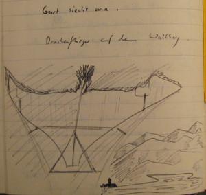 Notizbuch 32; Seite 63 (Drachenflieger auf dem Wallberg)