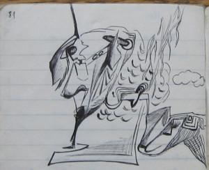 Notizbuch 30, Seite 81 (Detail: The White Lion Crystallized)